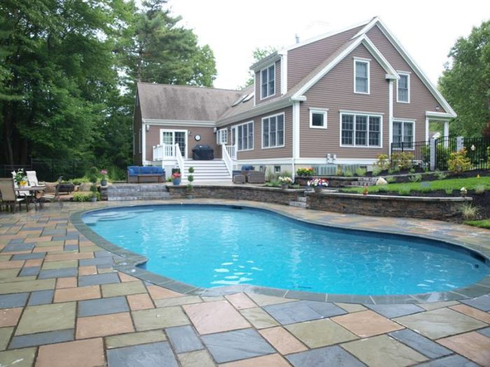 Backyard Pool Design in Norwell Mass | Terrain Planning